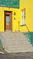 Yellow House with Steps